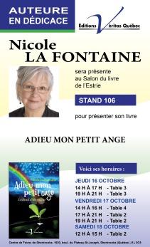 Dedicace Nicole La Fontaine SLEstrie 5